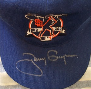 Tony Gwynn autographed San Diego Padres 2001 Retirement commemorative cap