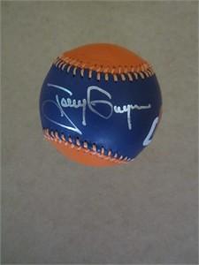 Tony Gwynn autographed San Diego Padres leather logo baseball