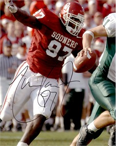 Tommie Harris autographed Oklahoma Sooners 8x10 photo