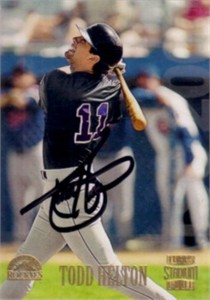 Todd Helton autographed Colorado Rockies 1997 Stadium Club card