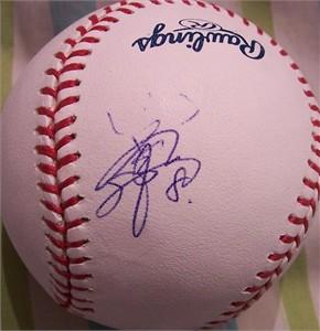 Toshiaki Imae (Japan) autographed MLB baseball