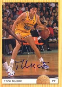 Toni Kukoc (Bulls) autographed 1993 Classic card