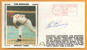 Tom Browning autographed Cincinnati Reds 1986 Perfect Game Gateway cachet envelope