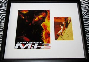 Tom Cruise autographed Mission Impossible 2 DVD insert matted & framed with photo