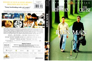 Tom Cruise autographed Rain Man DVD cover insert