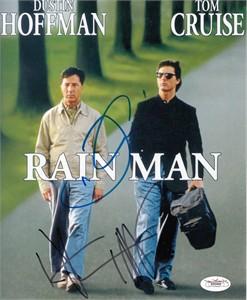 Tom Cruise & Dustin Hoffman autographed Rain Man 8x10 photo JSA