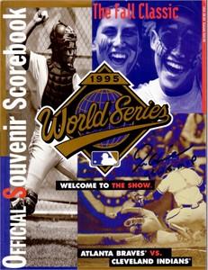 Tom Glavine autographed 1995 World Series program inscribed 95 W.S. MVP