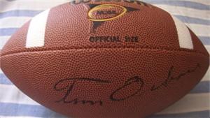 Tom Osborne autographed Wilson NCAA football