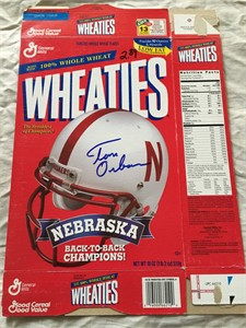 Tom Osborne autographed Nebraska Cornhuskers 1997 An Era of Excellence Wheaties box