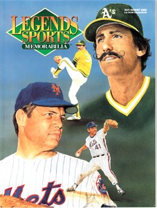Tom Seaver & Rollie Fingers 1992 Legends Sports Memorabilia magazine