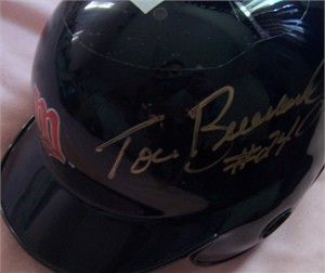 Tom Brunansky autographed Minnesota Twins mini batting helmet
