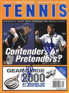 Tommy Haas & Nicolas Kiefer autographed Tennis magazine