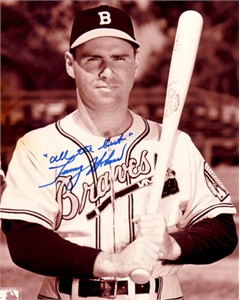 Tommy Holmes autographed Boston Braves 8x10 photo