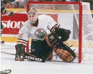 Tommy Salo autographed 8x10 Edmonton Oilers photo
