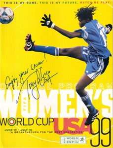 Tony DiCicco autographed 1999 Women's World Cup program