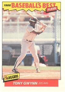 Tony Gwynn San Diego Padres 1986 Fleer Sluggers vs Pitchers card