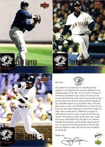 Tony Gwynn San Diego Padres Retirement 2001 Upper Deck baseball card partial set