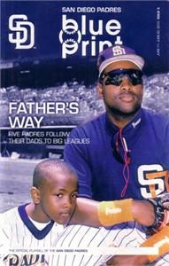 Tony Gwynn Sr and Jr 2010 San Diego Padres program