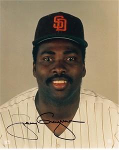 Tony Gwynn autographed San Diego Padres vintage 1980s 8x10 photo