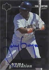 Tony Gwynn autographed San Diego Padres 1996 Upper Deck card
