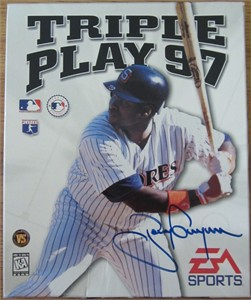 Tony Gwynn (San Diego Padres) autographed Triple Play 97 baseball video game