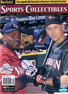 Tony Gwynn & Cal Ripken autographed 2001 MLB All-Star Game Beckett Sports Collectibles magazine