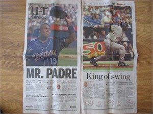 Tony Gwynn Memorial Mr. Padre 2014 San Diego Union-Tribune newspaper