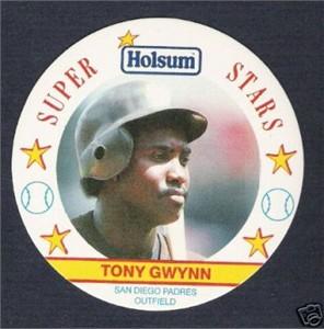 Tony Gwynn San Diego Padres 1989 Holsum disc