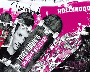 Tony Hawk autographed American Wasteland 8x10 skateboarding photo