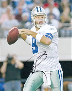 Tony Romo autographed Dallas Cowboys 8x10 photo