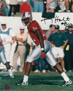 Torry Holt autographed North Carolina State Wolfpack 8x10 photo (Real Deal)