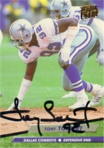 Tony Tolbert autographed Dallas Cowboys 1992 Ultra card