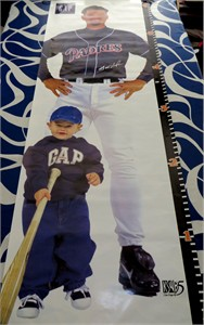 Trevor Hoffman autographed San Diego Padres vintage 1990s life size poster (MLB authenticated)