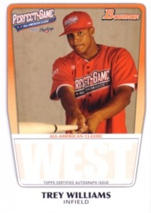 Trey Williams 2011 Perfect Game Topps Bowman Rookie Card (AFLAC)