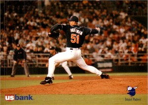 Trevor Hoffman 1996 San Diego Padres 5x7 US Bank photo card