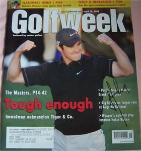 Trevor Immelman autographed 2008 Masters Champion Golfweek magazine
