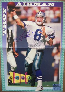 Troy Aikman autographed Dallas Cowboys Sports Illustrated for Kids mini poster