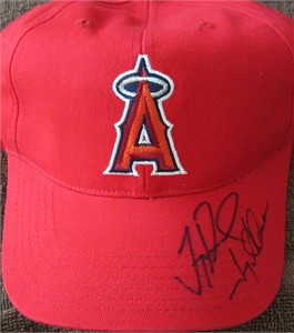 Troy Glaus & Troy Percival autographed Anaheim Angels cap or hat