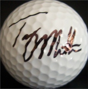 Troy Matteson autographed tournament used Titleist golf ball