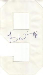 Troy Williamson autographed Minnesota Vikings jersey number