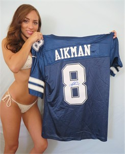 Troy Aikman autographed Dallas Cowboys authentic Nike game model jersey