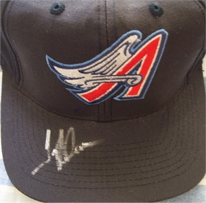 Troy Glaus autographed Anaheim Angels replica cap or hat