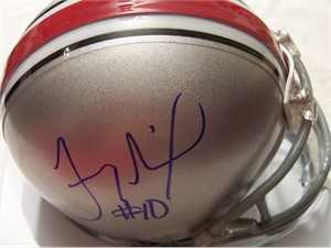 Troy Smith autographed Ohio State Buckeyes mini helmet