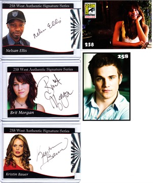 Kristin Bauer Nelsan Ellis Brit Morgan True Blood 2012 Comic-Con certified autograph card set