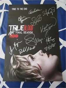 True Blood cast autographed 2014 Comic-Con poster (Anna Paquin Stephen Moyer Nelsan Ellis Sam Trammell)