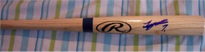 Tsuyoshi Nishioka autographed mini Rawlings Big Stick bat