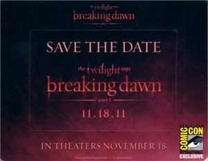 Twilight Breaking Dawn movie 2011 Comic-Con promo fridge magnet set