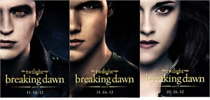 Twilight Breaking Dawn Part 2 movie 2012 Comic-Con exclusive 3 card promo set (Bella Edward Jacob)
