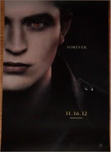 Twilight Breaking Dawn Part 2 2012 Comic-Con Edward mini 11x17 movie poster