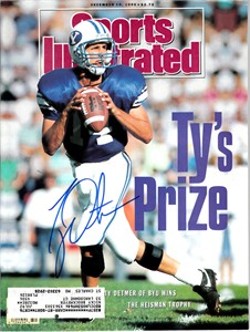 Ty Detmer autographed BYU Cougars 1990 Sports Illustrated